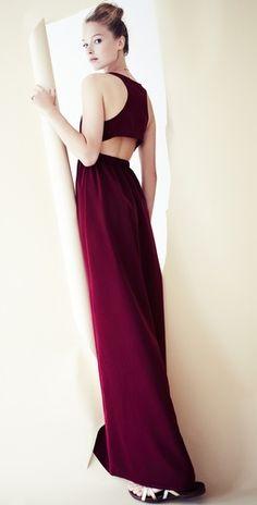 Thayer Maxi Slit Back Dress