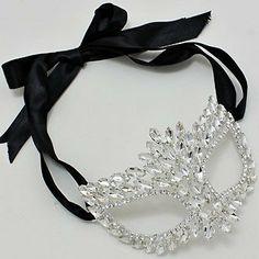 Rhinestone Crystal Masquerade Mask Masquerade Wedding by ELDNYC, $27.95