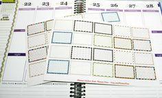20 Half Box Glitter Pattern Planner Stickers For Your Life Planner EC Planner Stickers...