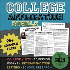 College Application Essay, Recommendation Letters, Researc