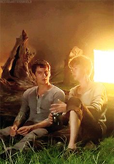 Thomas and Newt gif