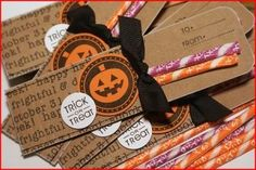 Pixie Stick Holders for halloween treats