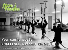 Rise to the challenge and prepare to change. Flight Chill/ Chall with Linda 7 pm. #challenge #change #antigravityyoga #flightchill #core #coreprinciplesstudio