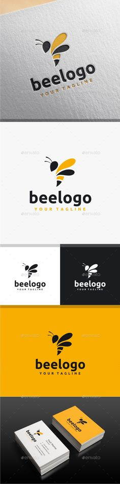 Bee Logo — Photoshop PSD #creative #simple • Available here → https://graphicriver.net/item/bee-logo/7727318?ref=pxcr