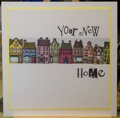 Wee houses card created by Amanda Branston