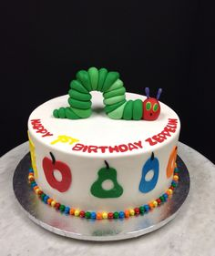 Hungry Caterpillar cake!