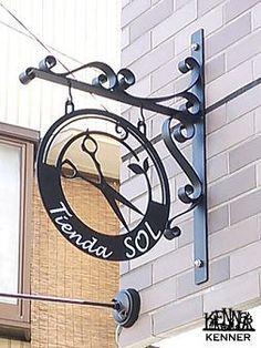 House Number Plates, Name Plates For Home, Metal Signage, Shop Signage, Rustic Salon Decor, Barber Shop Interior, Home Hair Salons, Cnc Cutting Design, Sign Board Design