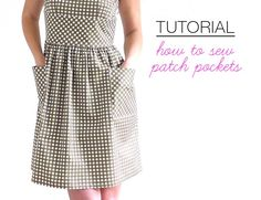 Over the last month I have taught my Shift Dress pattern from my book Skirts & Dresses For First Time Sewers twice, and both times I wore a version that had added patch pockets on the front. Both of m