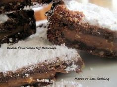 http://mooreorlesscooking.com  Knock Your Socks Off Brownies  So easy and delicious!