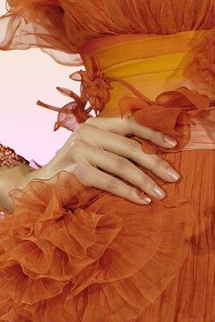orange color haute couture details - Pesquisa Google