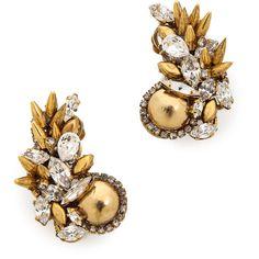 Erickson Beamon Velocity Earrings - Gold ($425) found on Polyvore