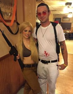 Me and my love as Mickey and Mallory Knox from Natural Born Killers!! Halloween 2014