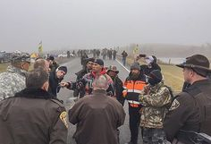 After a night of chaotic clashes with police on the front lines in a months-long protest, Native American activists complained about the force wielded to drive protestersfrom the path of a pipeline they contend willdesecrate tribal lands and put their lone source of drinking water at risk.