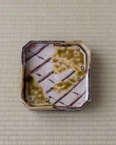 Oribe square bowl Momoyama period