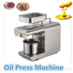 275.00$  Watch here - http://ali9p7.shopchina.info/go.php?t=32807181056 - NEW Automatic Stainless Steel Small Home Oil Press Machine Cold Hot press for peanut,coconut 275.00$ #magazine