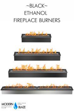 Bloc Adjustable Ventless Burner Ethanol Fireplace Insert