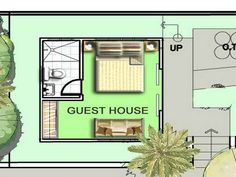 floor plans for small guest house - Google Search