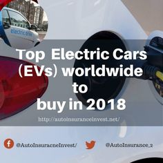 Top 10 Electric Cars (EVs) worldwide to buy in 2018  #electricar #electricvehicle #car #auto #autonews #evs #autoexpo #carnews #cars  #auto2018 #electriccars