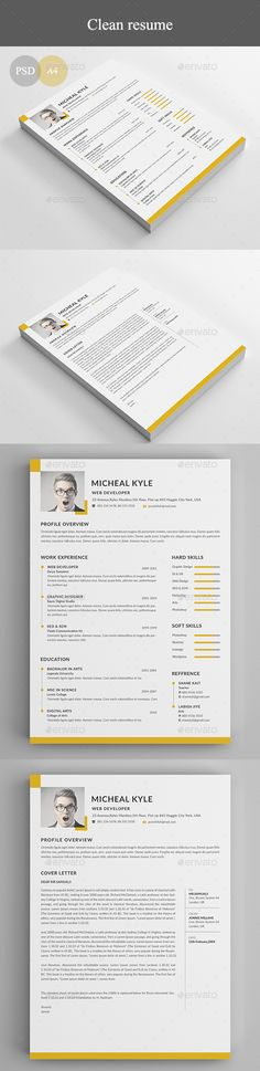 Resume - #Resumes #Stationery Download here: https://graphicriver.net/item/resume/20078686?ref=alena994