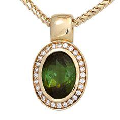Anhänger 585 Gold Gelbgold 1 Turmalin grün 28 Diamanten 0,11ct. http://cgi.ebay.de/ws/eBayISAPI.dll?ViewItem&item=161870316197&ssPageName=STRK:MESE:IT