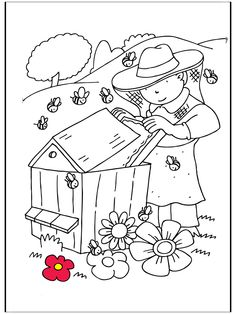 pictures for painting! Free Kids Coloring Pages, Colouring Pages, Bee Pictures, Pictures To Paint, Daycare Crafts, Preschool Crafts, Bugs And Insects, Bee Happy, Bee Keeping