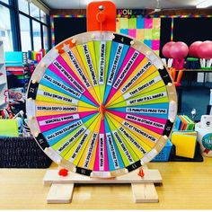 Props to for turning this IKEA wheel into a rainbow dream!… – Debby Props to for turning this IKEA wheel into a rainbow dream!… Props to for turning this IKEA wheel into a rainbow dream! Circus Theme Classroom, Classroom Rewards, Classroom Hacks, Classroom Setup, Math Classroom, Classroom Organization, Classroom Management, Teacher Workshops, Teacher Resources