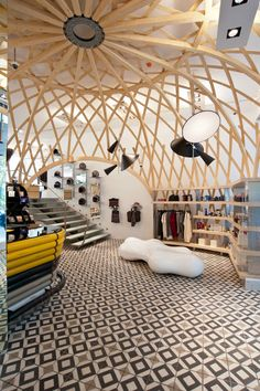 Fashion Clinic in Lisbon is some of the coolest store design we have ever seen.