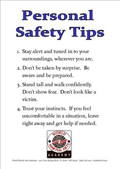 Personal Safety Tips for Women