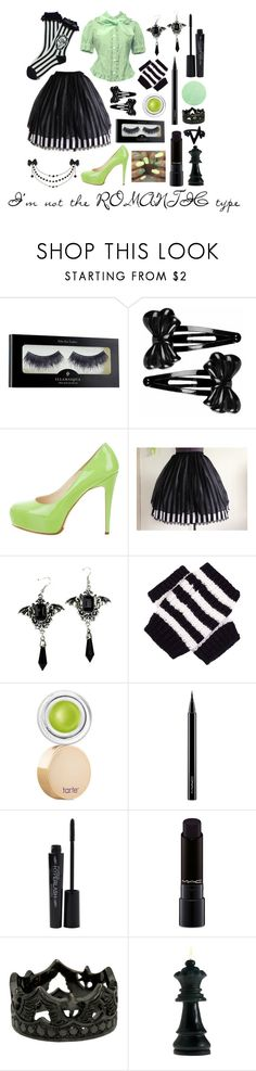"""""""I'm not the romantic type"""" by melodyfire ❤ liked on Polyvore featuring Illamasqua, Forever 21, Brian Atwood, Gucci, tarte, MAC Cosmetics and Smashbox"""