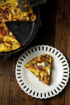 Italian Sausage, Onion and Pepper Frittata