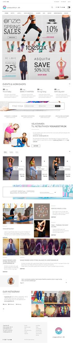 Yogaudstyr.dk is an online shop selling yoga equipment, clothes and accessories. Our primary target group is women age 40+ and secondary everyone interested in yoga and healthy living.