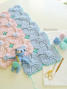 Crochet blanket ༺✿ƬⱤღ https://www.pinterest.com/teretegui/✿༻ no pattern just inspiration