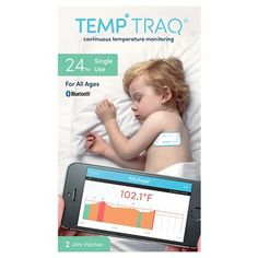 TempTraq is a wearable, wireless, continuous temperature monitor that comes in the form of a soft comfortable patch. It is a single use, disposable patch that works for 24 continuous hours. Using the Free Android or IOS APP, you can set alerts, monitor multiple children, keep track of medicine dosage and timing and send the temperature history to your doctor, relatives, or caregivers. With TempTraq, there is no need to disturb your child or wake them up to take their temperature and you ...