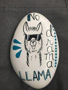 No Drama Llama Special Order hand painted rock