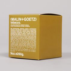 Buy the Malin+Goetz Tobacco Scented Candle at Goodhood.