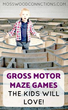 Gross Motor Maze Games #grossmotorgames #visiongames #outdoorfun #mosswoodconnections