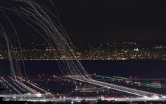 cool picture. airplanes taking off