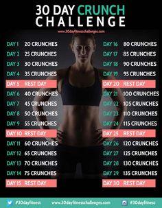 30 Day Crunch Challenge Chart