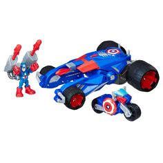 Playskool Heroes MARVEL SUPER SQUAD Captain America Brown Bateaux