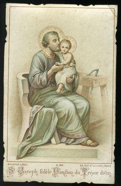 Saint Joseph, fidèle Gardien du Trésor divin. --- Saint Joseph, faithful guardian of the Divine Treasure.