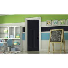 JELD-WEN Craftsman Midnight 3-panel Craftsman Single Prehung Interior Door (Common: 32-in x 80-in; Actual: 33.562-in x 81.688-in)