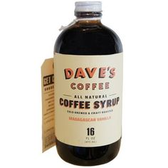 Dave's Coffee Syrup Vanilla