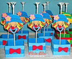 Pinkie Blue Artigos para festa: Centros de mesa Tema Patati e Patatá