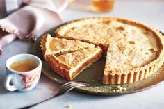 With a sweet fruit centre, this decadent Italian-style apricot tart is a guaranteed crowd-pleaser. Pastry Recipes, Tart Recipes, Dessert Recipes, Cyprus Food, Apricot Tart, Blanched Almonds, Dried Apricots, Food Tasting, Deserts