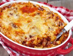 Makaroni og kjøttdeigform Nachos, Mince Meat, Pasta, Cheeseburger Chowder, Lasagna, Macaroni And Cheese, Picnic, Protein, Food Porn