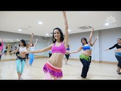 Beginners Level 1 Belly Dance at Fleur Estelle Dance School - YouTube