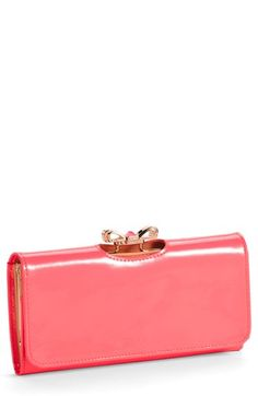 Ted Baker London 'Crystal Bow Bobble' Matinee Wallet | Nordstrom