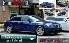Blue BMW E60