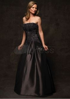 Mother of The Bride Dresses-taffeta strapless rouched waist with mother of bride dress