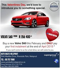 This Valentines Day, Volvo would like to introduce you to something special!